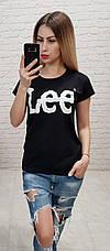 """Футболка женская хлопковая """"LEE"""" реплика Турция размер S,M,L (от 3 шт), фото 2"""