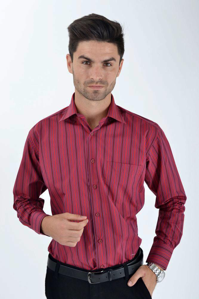 Рубашка 0808-10 цвет Сине-красный