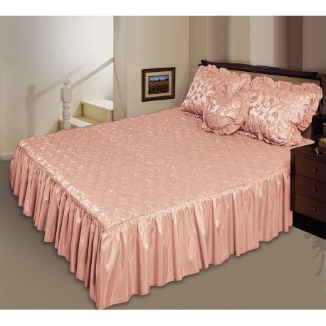 Комплект ТЕП Романс персик: покрывало, декоративная подушка, подушка сердечко.