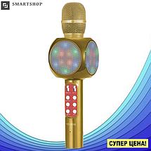 Микрофон караоке WSTER WS-1816 - беспроводной Bluetooth микрофон с cветомузыкой, слотом USB и FM тюнером, фото 3