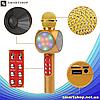 Микрофон караоке WSTER WS-1816 - беспроводной Bluetooth микрофон с cветомузыкой, слотом USB и FM тюнером, фото 4