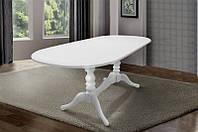 Стол обеденный раскладной Вавилон деревянный  белый