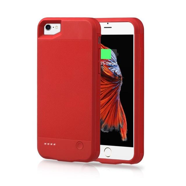 Чехол павербанк для Iphone 7 на 2500 мАч красный