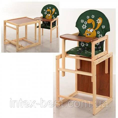 Детский деревянный стульчик для кормления M V-010-22-3, фото 2