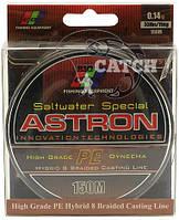 Плетеный шнур EOS Astron PE 150м, Черный