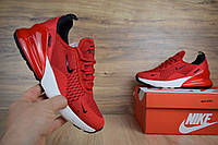 Женские кроссовки в стиле Nike Air Max 270, красные 37 (23,5 см)