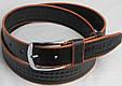 Мужской кожаный джинсовый ремень Skipper 5431 чёрный ДхШ: 125х4 см., фото 2
