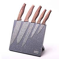 Набор кухонных ножей Kamille на акриловой подставке с мраморным покрытием - 226286 (SKU777)