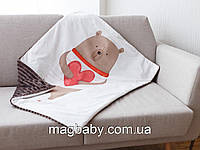 Утепленный плед в коляску Любимый мишка