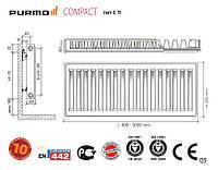 Стальные радиаторы PURMO Compact 11 500х800