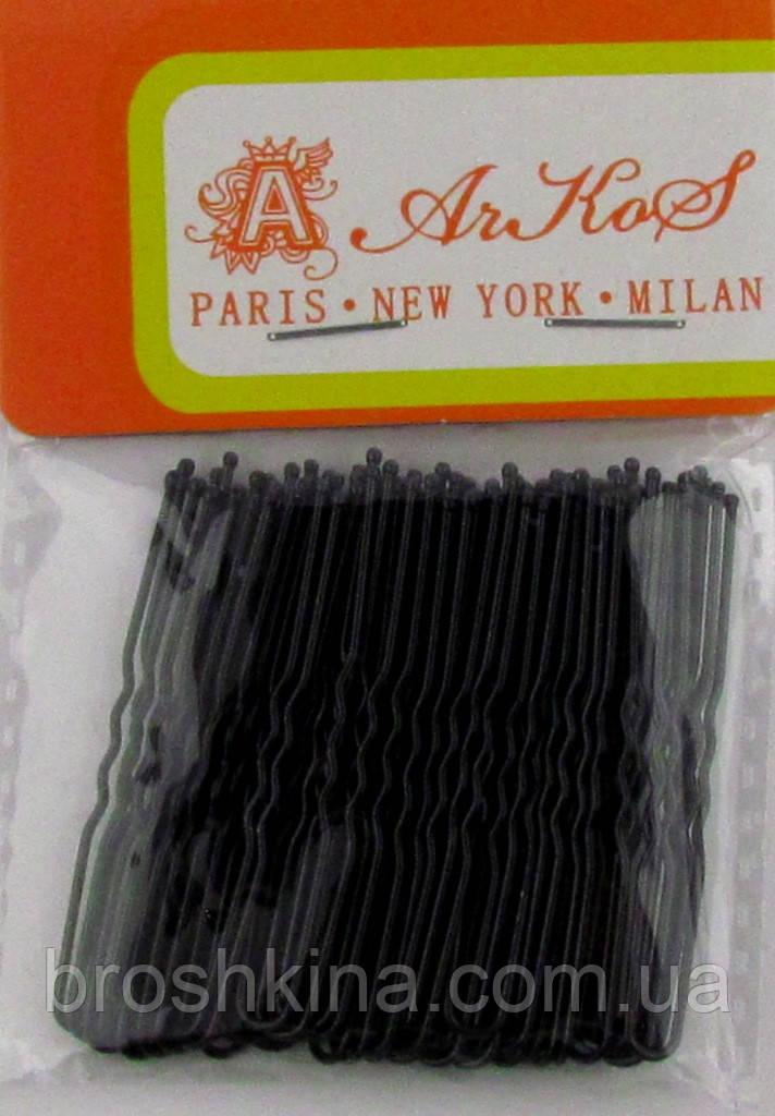 Шпильки для волос черные 5 см 50 шт/уп