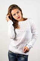 Джемпер пуловер кофточка кофта нарядная белая размер 46-48  AL3