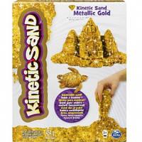 Кинетический песок для детского творчества kinetic sand metallic золотой 454 г