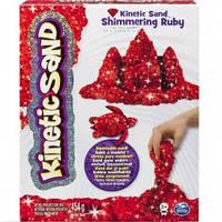 Кинетический песок для детского творчества kinetic sand metallic красный 454 г