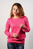 Джемпер пуловер кофточка кофта нарядная малина размер 46-48  AL3
