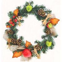 Украшение декоративное YES! Fun Венок Рождественский с украшением Зимний лес (903595)