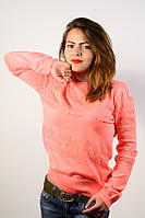 Джемпер пуловер кофточка кофта нарядная персик размер 46-48  AL3
