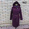 Пальто жіноче демісезонне під пояс розміри 54-60, фото 2