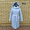 Пальто жіноче демісезонне під пояс розміри 54-60, фото 3