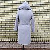 Пальто жіноче демісезонне під пояс розміри 54-60, фото 6