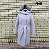 Пальто жіноче демісезонне під пояс розміри 54-60, фото 7