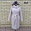 Пальто жіноче демісезонне під пояс розміри 54-60, фото 8