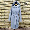 Пальто жіноче демісезонне під пояс розміри 54-60, фото 10