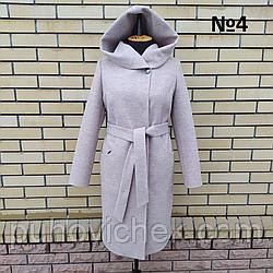 Женское пальто с капюшоном весна осень размеры 50-60