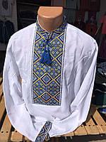 Мужская вышиванка на льне