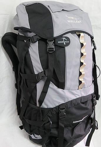 Рюкзак туристический большой 85+10 л. Wallaby Артикул: Е201-1 чёрно-красный, синий, серый.