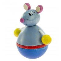 Развивающая игрушка nic неваляшка деревянная Мышка (NIC61552)