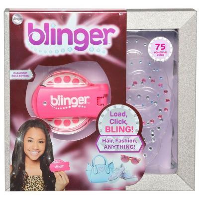 Набор для творчества Blinger Стайлер для украшения стразами розовый (1