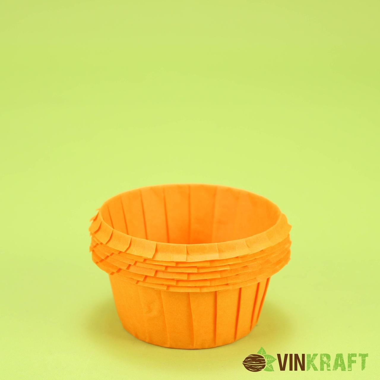 Бумажная форма с усиленным бортиком (55*35), оранжевая