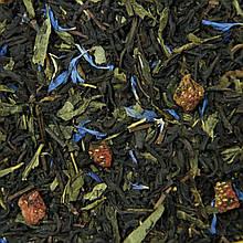 КАПЛИ ШАМПАНСКОГО 500г композиционный чай смесь черного и зеленого с добавкамии