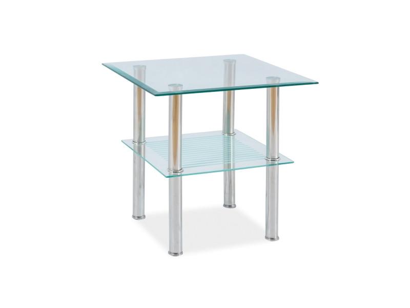 Квадратный стеклянный столик Pixel C 50x50