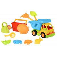 Игрушка для песка Same Toy 11ед Грузовик желтая кабина/синий кузов (968Ut-2)