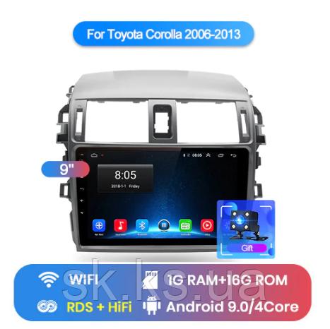 Junsun 4G Android магнитола для Toyota corolla 2006-2013 wifi