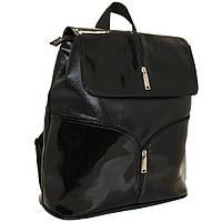 Рюкзак-сумка городской, лаковый, фото 1
