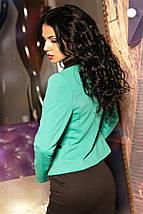 """Комбинированный женский жакет """"PASTEL"""" с контрастной отделкой и длинным рукавом (2 цвета), фото 3"""
