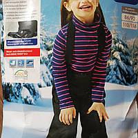 Штаны тёплые детские черные 98/104