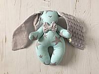 Именная игрушка зайка с вышивкой