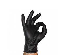 Перчатки нитриловые Nitrylex Basic неопудренные   100 шт  размер   ХL чёрные, фото 2