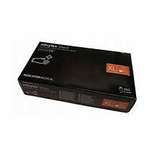 Перчатки нитриловые Nitrylex Basic неопудренные   100 шт  размер   ХL чёрные, фото 3