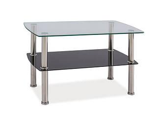 Прямоугольный стеклянный столик Irene 75x45