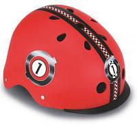 Шлем Globber с фнариком (XS/S) Гонки красный (507-102)