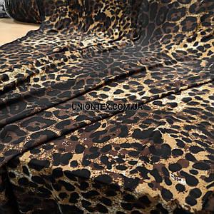 Микромасло принт леопард, ширина 170см