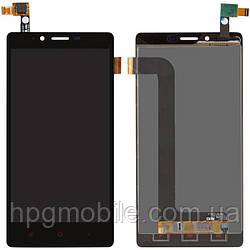 Дисплейный модуль (дисплей + сенсор) для Xiaomi Redmi Note, черный, оригинал