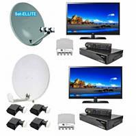 Спутниковый комплект Оптимальный 2 - На 2 ТВ и 2 антенны