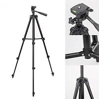 Штатив для фотоаппарата и телефона трипод 3120A Black + чехол