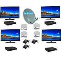 Комплект спутникового ТВ Базовый 4- на 4 телевизора